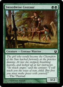 Magic: The Gathering Born of the Gods Single Card Green Common #142 Swordwise Centaur