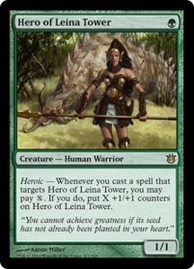 Magic: The Gathering Born of the Gods Single Card Green Rare #123 Hero of Leina Tower