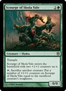 Magic: The Gathering Born of the Gods Single Card Green Rare #137 Scourge of Skola Vale