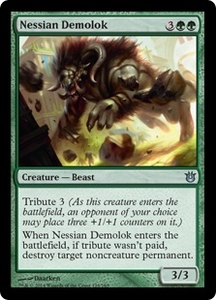 Magic: The Gathering Born of the Gods Single Card Green Uncommon #128 Nessian Demolok