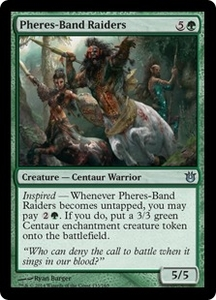 Magic: The Gathering Born of the Gods Single Card Green Uncommon #133 Pheres-Band Raiders
