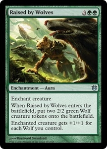 Magic: The Gathering Born of the Gods Single Card Green Uncommon #135 Raised by Wolves