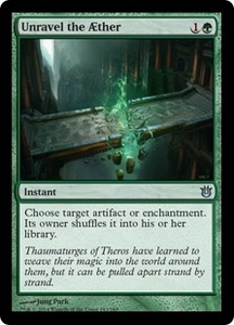 Magic: The Gathering Born of the Gods Single Card Green Uncommon #143 Unravel the ther