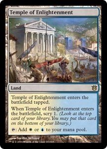 Magic: The Gathering Born of the Gods Single Card Land Rare #163 Temple of Enlightenment