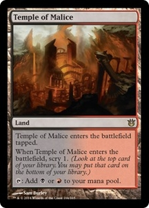 Magic: The Gathering Born of the Gods Single Card Land Rare #164 Temple of Malice