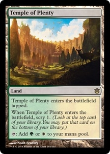 Magic: The Gathering Born of the Gods Single Card Land Rare #165 Temple of Plenty