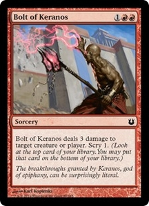 Magic: The Gathering Born of the Gods Single Card Red Common #89 Bolt of Keranos