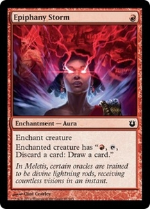 Magic: The Gathering Born of the Gods Single Card Red Common #91 Epiphany Storm