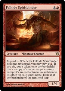Magic: The Gathering Born of the Gods Single Card Red Rare #96 Felhide Spiritbinder