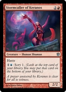 Magic: The Gathering Born of the Gods Single Card Red Uncommon #112 Stormcaller of Keranos