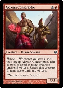 Magic: The Gathering Born of the Gods Single Card Red Uncommon #87 Akroan Conscriptor