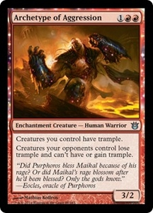 Magic: The Gathering Born of the Gods Single Card Red Uncommon #88 Archetype of Aggression