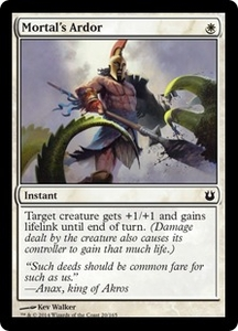 Magic: The Gathering Born of the Gods Single Card White Common #20 Mortal's Ardor