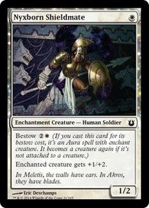 Magic: The Gathering Born of the Gods Single Card White Common #21 Nyxborn Shieldmate