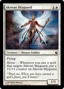 Magic: The Gathering Born of the Gods Single Card White Common #3 Akroan Skyguard