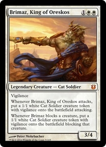Magic: The Gathering Born of the Gods Single Card White Mythic Rare #5 Brimaz, King of Oreskos