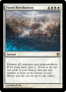 Magic: The Gathering Born of the Gods Single Card White Rare #11 Fated Retribution