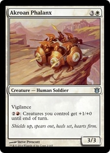 Magic: The Gathering Born of the Gods Single Card White Uncommon #2 Akroan Phalanx