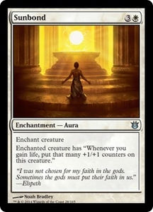 Magic: The Gathering Born of the Gods Single Card White Uncommon #28 Sunbond