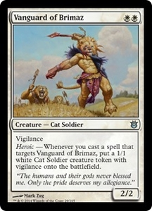 Magic: The Gathering Born of the Gods Single Card White Uncommon #29 Vanguard of Brimaz