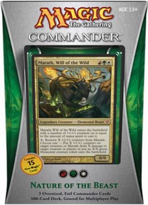 Magic the Gathering Commander EDH 2013 Deck Nature of the Beast [Red, Green & White]