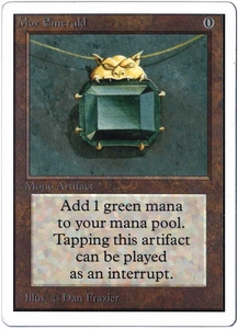 Magic the Gathering Unlimited Edition Single Card Rare Mox Emerald Slightly Played