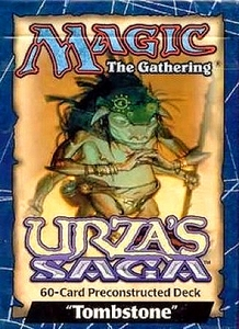 Magic the Gathering Urza's Saga Theme Deck Tombstone