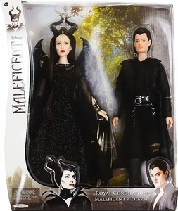 Maleficent Movie Royal Coronation Doll Gift Set Maleficent & Diaval New!