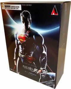 Man of Steel Square Enix Play Arts Kai Action Figure Superman [Black Suit]