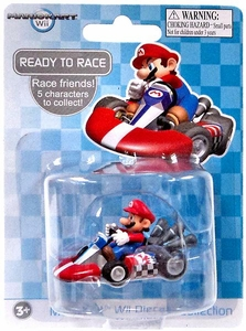 Mario Kart Wii Die Cast Collection 2 Inch Vehicle Mario
