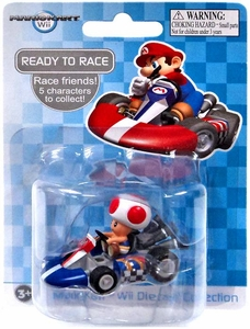 Mario Kart Wii Die Cast Collection 2 Inch Vehicle Toad