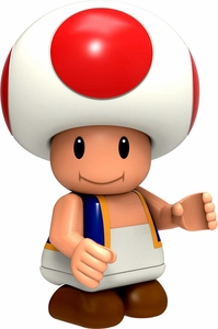Super Mario Wii K'NEX LOOSE Mini Figure Toad