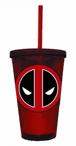 Marvel Acrylic Cup Deadpool Symbol  Pre-Order ships April