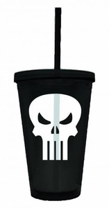 Marvel Acrylic Cup Punisher Symbol New!
