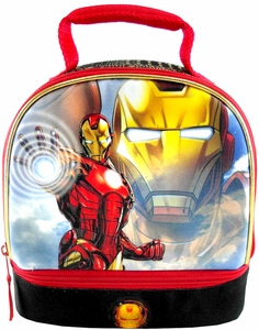 Marvel Avengers Assemble Dual Compartment Insulated Lunch Bag Iron Man New!