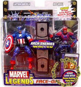 Marvel Legends Face Off Series 1 Action Figure Twin Pack Captain America vs. Red Skull Slightly Damaged Package, MINT Contents!