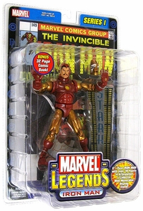 Marvel Legends Series 1 Variant Action Figure Iron Man [Gold & Red Armor]