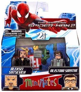 Marvel Minimates Amazing Spider-Man 2 Movie Series 56 Mini Figure 2-Pack Aleksei Sytsevich & Alistair Smythe