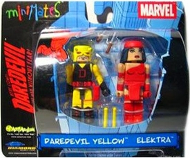 Marvel MiniMates Daredevil Yellow and Elektra