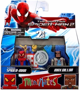 Marvel Minimates Exclusive Amazing Spider-Man 2 Movie Series 56 Mini Figure 2-Pack Flashback Spider-Man & Max Dillon