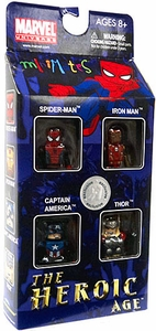 Marvel Minimates Exclusive Mini Figure 4-Pack The Heroic Age [Spider-Man, Iron Man, Captain America & Thor]