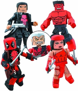 Marvel Minimates Mini Figure 4-Pack Thunderbolts [Red Hulk, Deadpool, Elektra & Punisher]