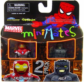 Marvel MiniMates Series 27 Mini Figure 2-Pack Ultimate Hulk & Ultimate Iron Man