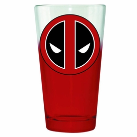 Marvel Pint Glass Deadpool Symbol New!