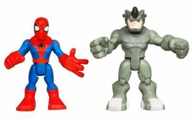 Marvel Playskool Spider-Man Adventures Mini Figure 2-Pack Spider-Man & Rhino