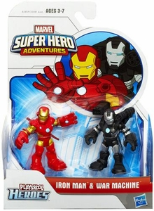 Marvel Playskool Super Hero Adventures Mini Figure 2-Pack Iron Man & War Machine