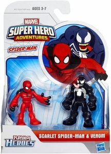 Marvel Playskool Super Hero Adventures Mini Figure 2-Pack Scarlet Spider-Man & Venom