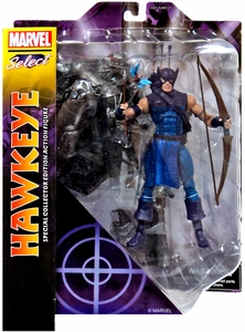 Marvel Select  Action Figure Classic Hawkeye [Blue & Purple Suit] New!