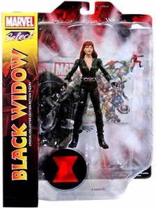 Marvel Select Exclusive Action Figure Black Widow [Black Uniform]