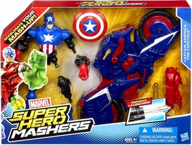 Marvel Super Hero Mashers Action Figure 2-Pack Captain America The Capcycle New!